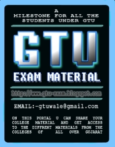 gtu exam provide you the best exam material for B.E, M.C.A, M.B.A, Pharmacy, G.C.E.T and GujCet!